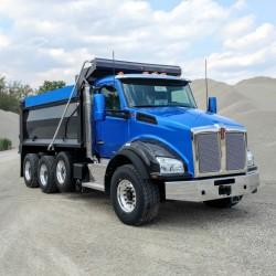 T880 Kenworth dump truck with Beauroc DL Hardox steel body