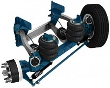 10,000 lb Steerable Lift Axle