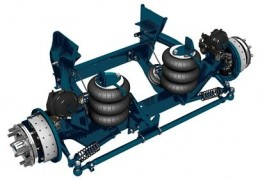 13,000 lb Steerable Lift Axle