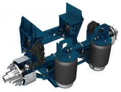 25,000 lb Steerable Lift Axle